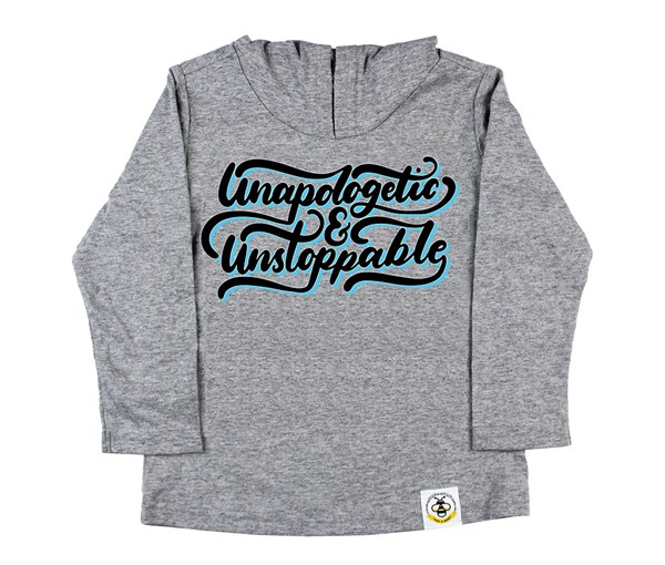 Unapologetic and Unstoppable (Kids Hooded Tee)