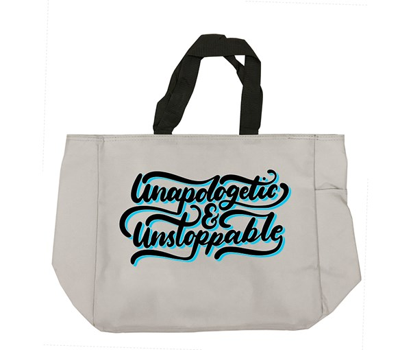 Unapologetic and Unstoppable Tote Bag (Grey)