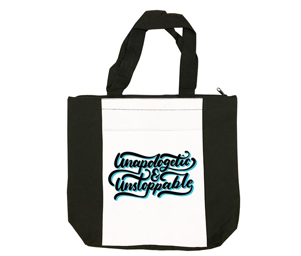 Unapologetic and Unstoppable Tote Bag (Black/White)