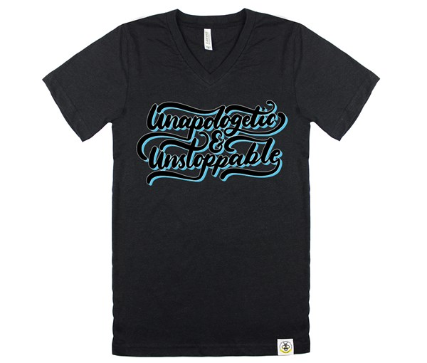 Unapologetic and Unstoppable (Adult V-Neck)