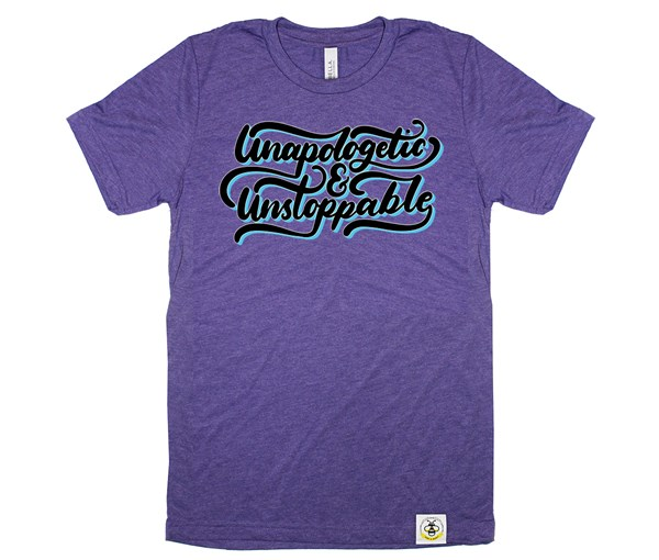 Unapologetic and Unstoppable Adult Crew (Purple)
