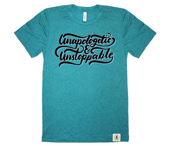 Unapologetic and Unstoppable Adult Crew (Teal)