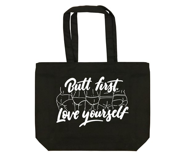 Butt First Tote Bag (Black)