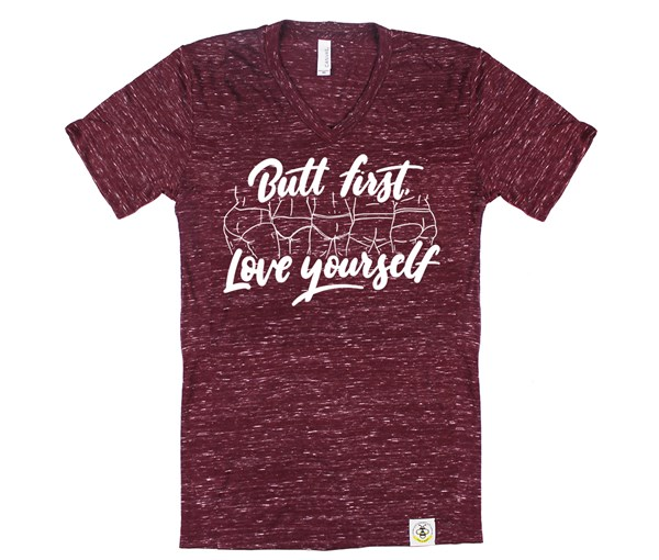 Butt First, Love Yourself (Adult V-Neck)