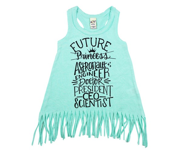 Future Fringe Dress (Mint)