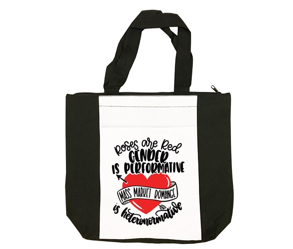 Roses are Red Tote Bag (Black/White)