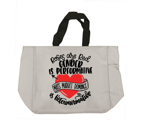Roses are Red Tote Bag (Grey)