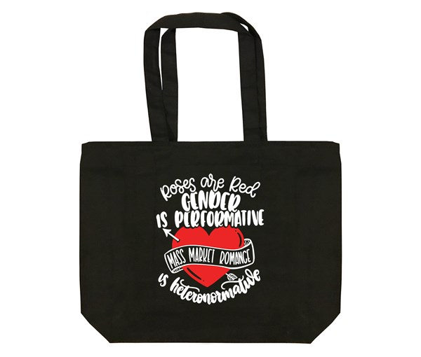 Roses are Red Tote Bag (Black)