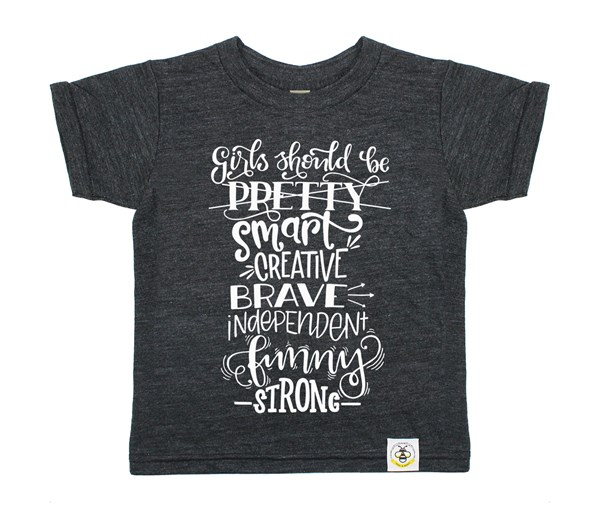 Girls Should (Heather Charcoal)