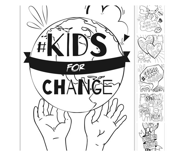 #Kidsforchange Coloring Book (Digital Download)