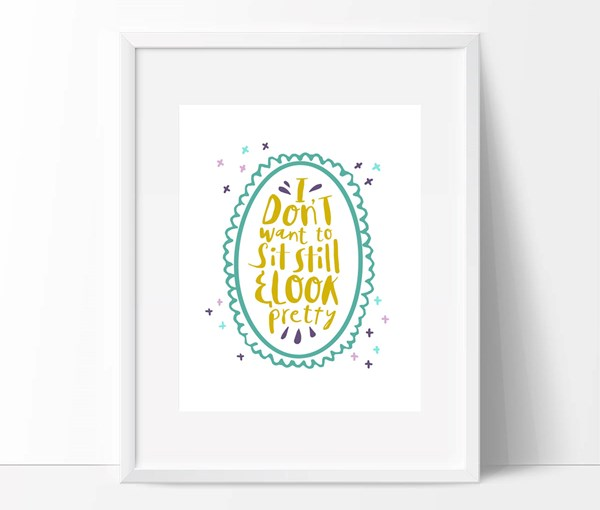 Sit Still, Look Pretty Print *Mermaid Colorway* (Digital Download)