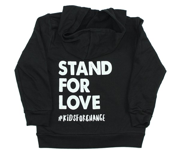 Stand for Love Zippered Hoodie