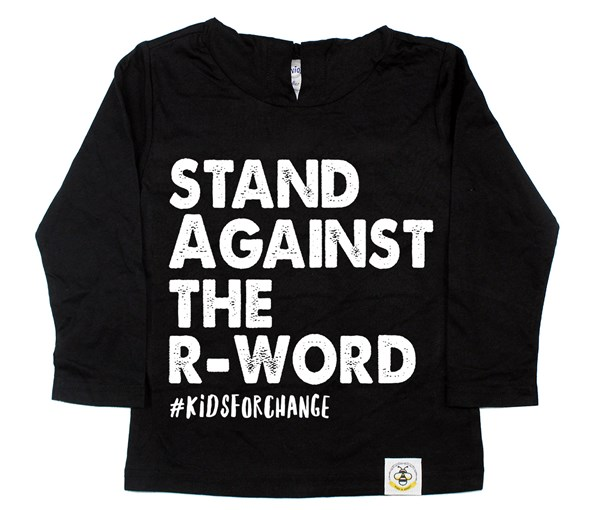 Stand Against the R-Word Long Sleeved Hooded Tee