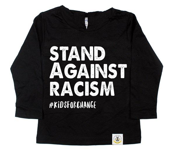 Stand Against Racism Long Sleeved Hooded Tee