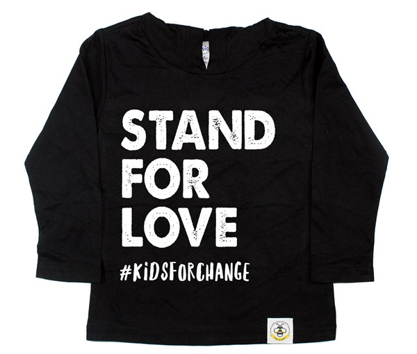 Stand for Love Long Sleeved Hooded Tee
