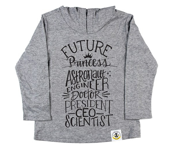 Future Long Sleeved Hooded Tee (Grey, Black)
