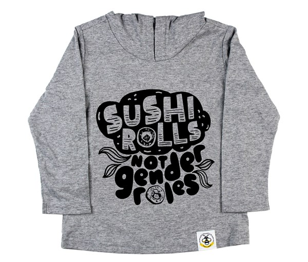 Sushi Rolls Long Sleeved Hooded Tee