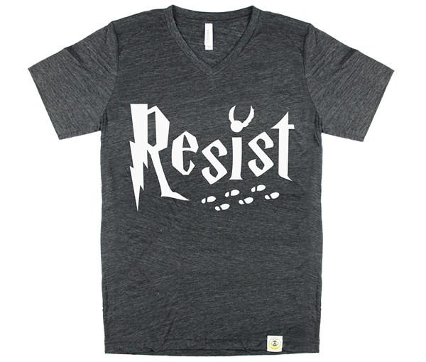 Resist Unisex Adult Charcoal V-Neck