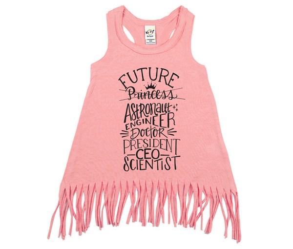 Future Fringe Dress (Flamingo)