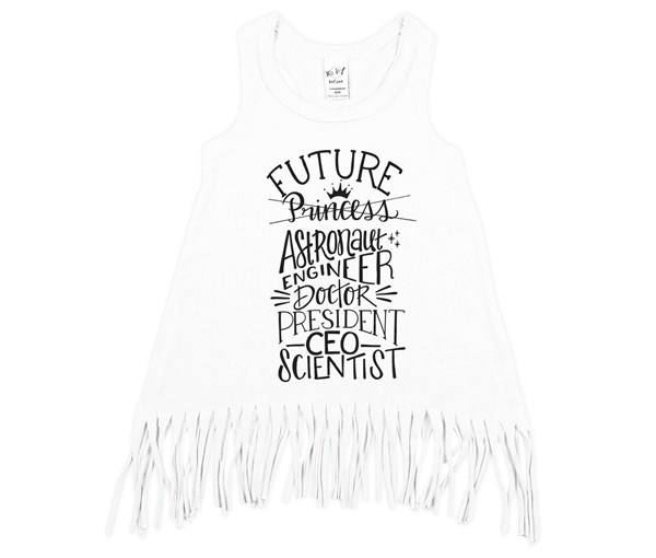 Future Fringe Dress (White)