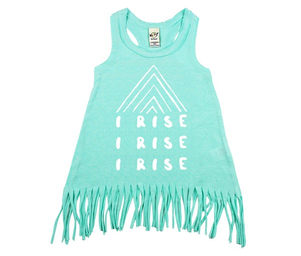 I Rise Fringe Dress (Mint)