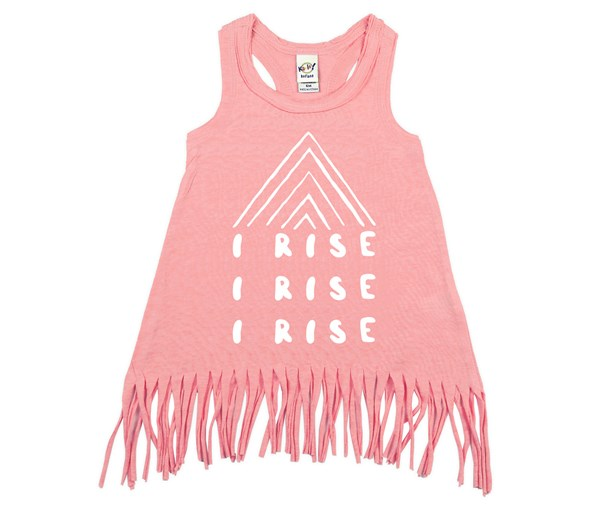 I Rise Fringe Dress (Flamingo)