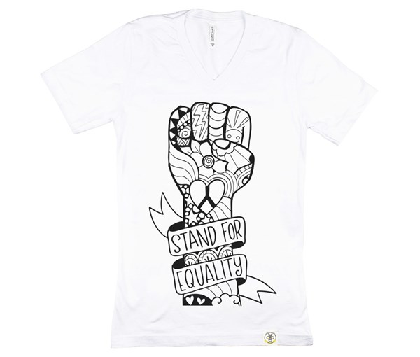 Equality Fist (Adult V-Neck)