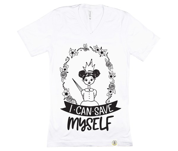 Save Myself - Puffs Adult (White)