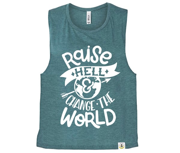 Raise Hell (Muscle Tank) - Heather Teal
