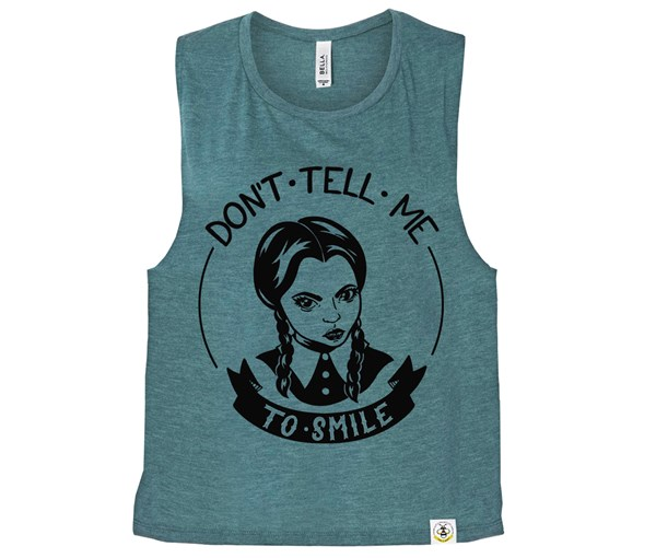 Don't Tell Me (Muscle Tank) - Heather Teal
