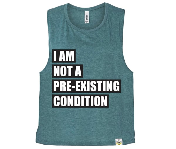 Pre-existing Condition (Muscle Tank) - Heather Teal