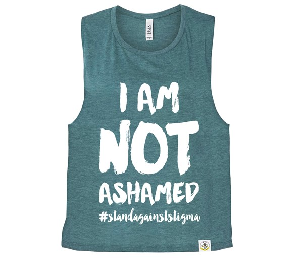 Not Ashamed (Muscle Tank) - Heather Teal