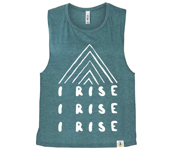 I Rise (Muscle Tank) - Heather Teal