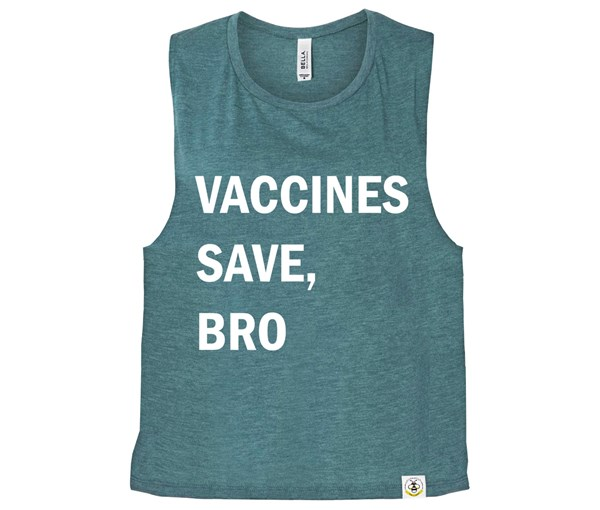 Vaccines Save, Bro (Muscle Tank) - Heather Teal
