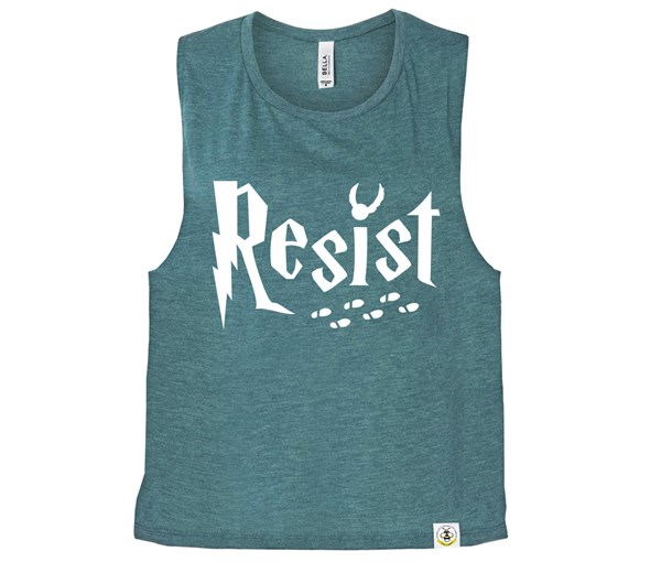 Resist (Muscle Tank) - Heather Teal