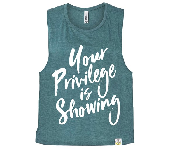 Privilege (Muscle Tank) - Heather Teal
