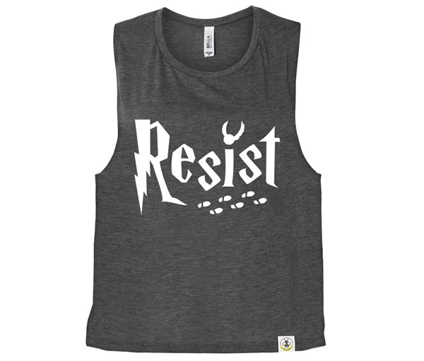 Resist (Muscle Tank) - Charcoal