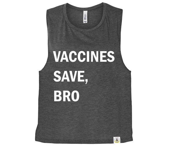 Vaccines Save, Bro (Muscle Tank) - Charcoal