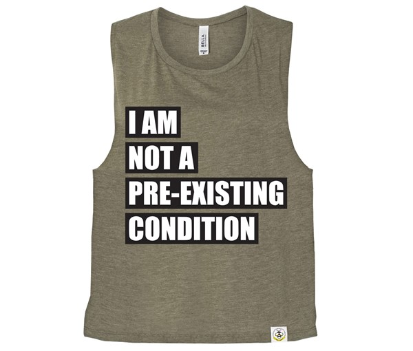 Pre-existing Condition (Muscle Tank) - Heather Olive