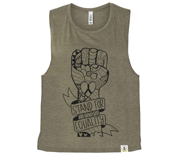 Equality Fist (Muscle Tank) - Heather Olive