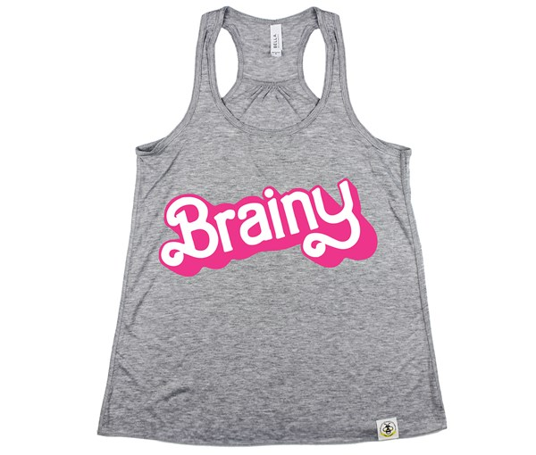 Brainy (Women's Tank) - Grey