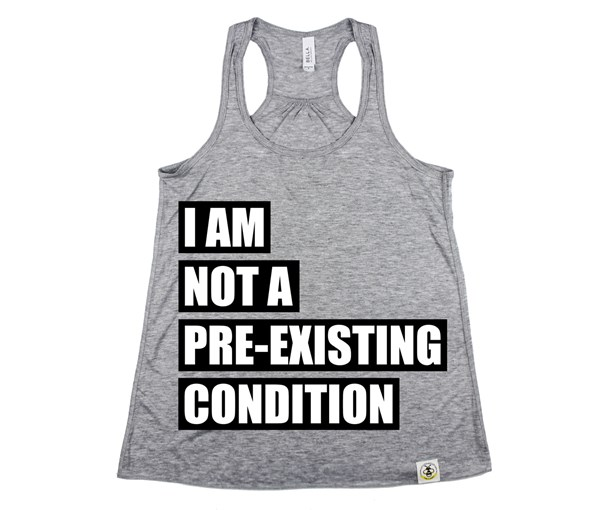 Pre-existing Condition (Women's Tank) - Grey