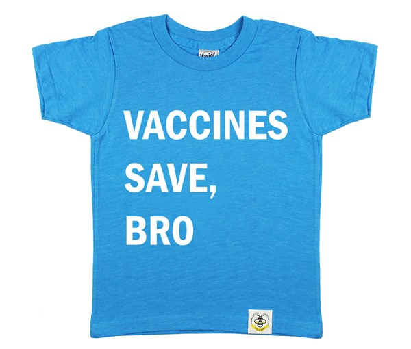 Vaccines Save, Bro (Island Blue)