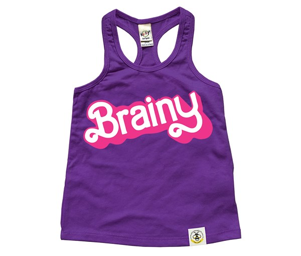 Brainy Racerback Tank (Purple)