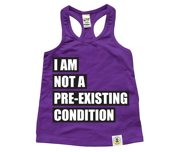 Pre-existing Condition Racerback Tank (Purple)