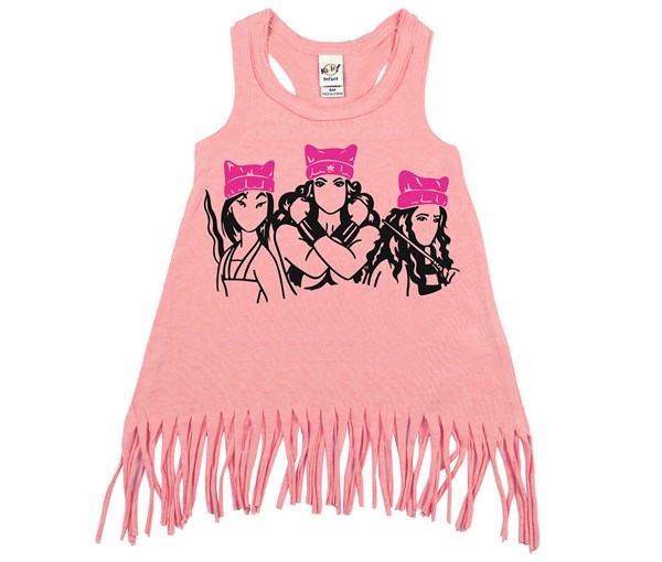 Pink Hat Heroes Fringe Dress (Flamingo)