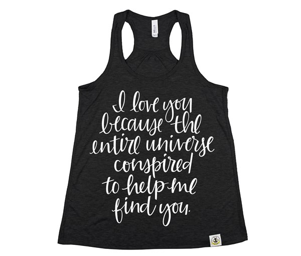 I Love You Becauase... (Women's Tank) - Heather Black