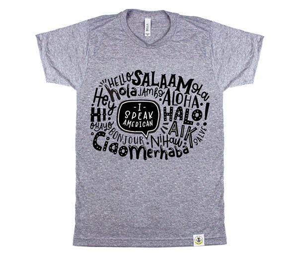 I Speak American Unisex Adult (Grey)