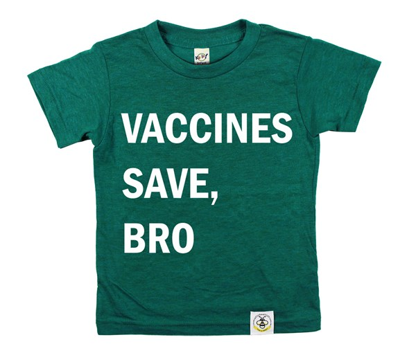 Vaccines Save, Bro (Heather Dark Green)