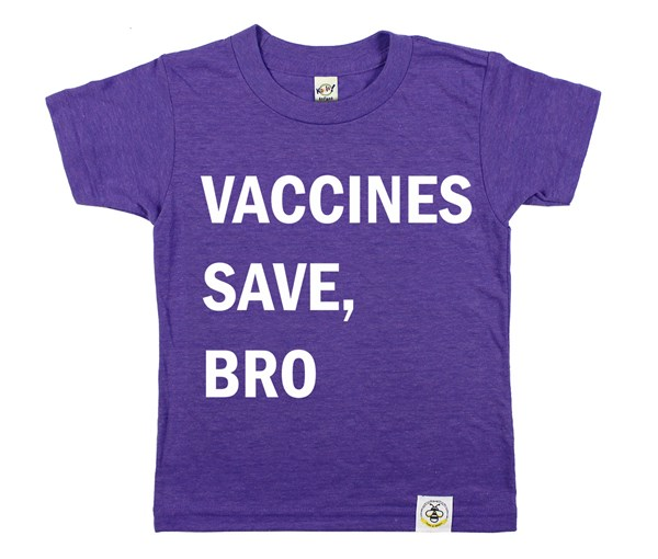 Vaccines Save, Bro (Heather Purple)